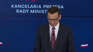 Premier Morawiecki komentuje