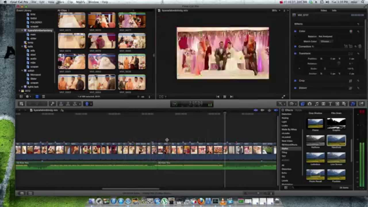 Wedding Highlight Editing Final Cut Pro X Time Lapse