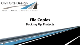 Civil Site Design - Backing Up Projects