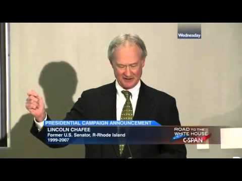 Lincoln Chafee Presidential Campaign Announcement