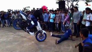 TVS Apache RTR 180 Pro bike Stunts HPz 2016