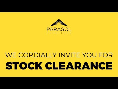 Parasol Outdoor Furniture Showroom - Stock Clearance Sale!