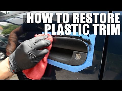 Restore and fix faded plastic trim on your car youtube Black interior car trim restorer
