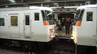 Train coupling in Atami, Japan (with explanation) 踊り子号の連結作業(解説付き)