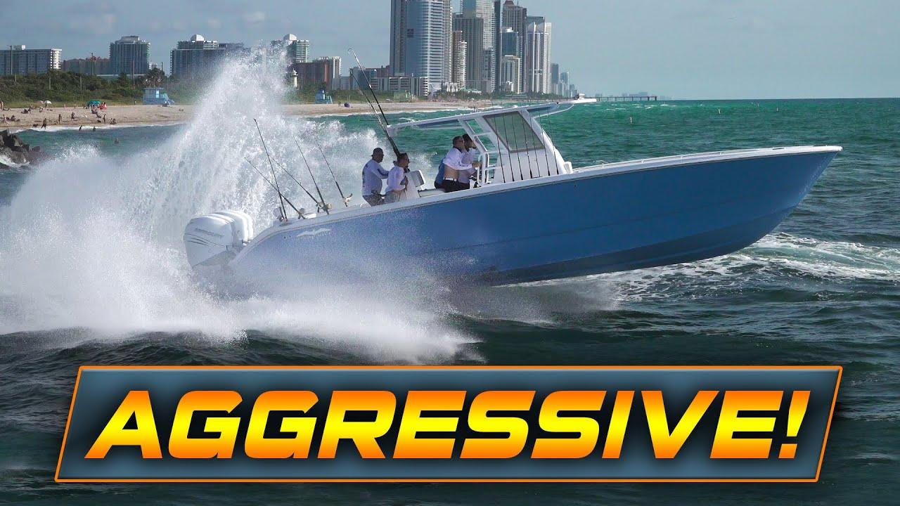 BOATS VS CHOPPY HAULOVER WAVES!!   Boats vs Haulover Inlet