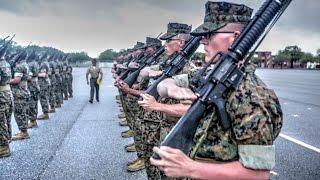 Marine Recruits 24 Days Into Basic Training – Initial Drill Evaluation
