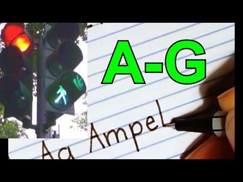 Alphabet - Schreiben, Aussprache, Lesen Lernen - Anlaut, Silben, Wörter - Abc Deutsch Lernen