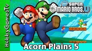 Super Mario PART 5: Acorn Plains 5 + WIi U Nintendo with HobbyDad, HobbyKids