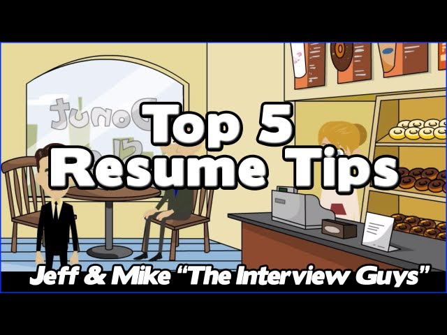 how to write a resume our top 5 resume tips that will get ted ed