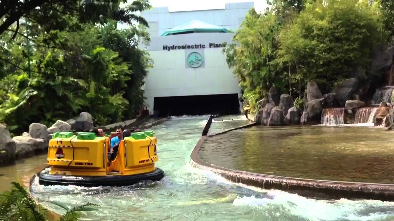 Jurassic Park Ride, Universal Studios, Singapore - YouTube