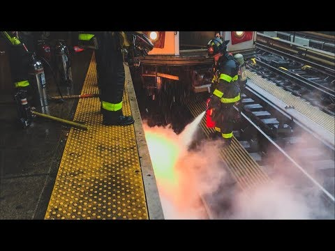 FDNY - On Scene - Electrical Fire Under the Tracks On the (7) Line