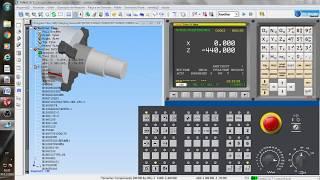 Programação completa de torno cnc passo a passo no simulador SSCNC.