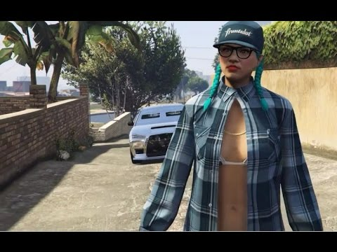 GTA 5 Online - Women Crip Gang Outfits - YouTube