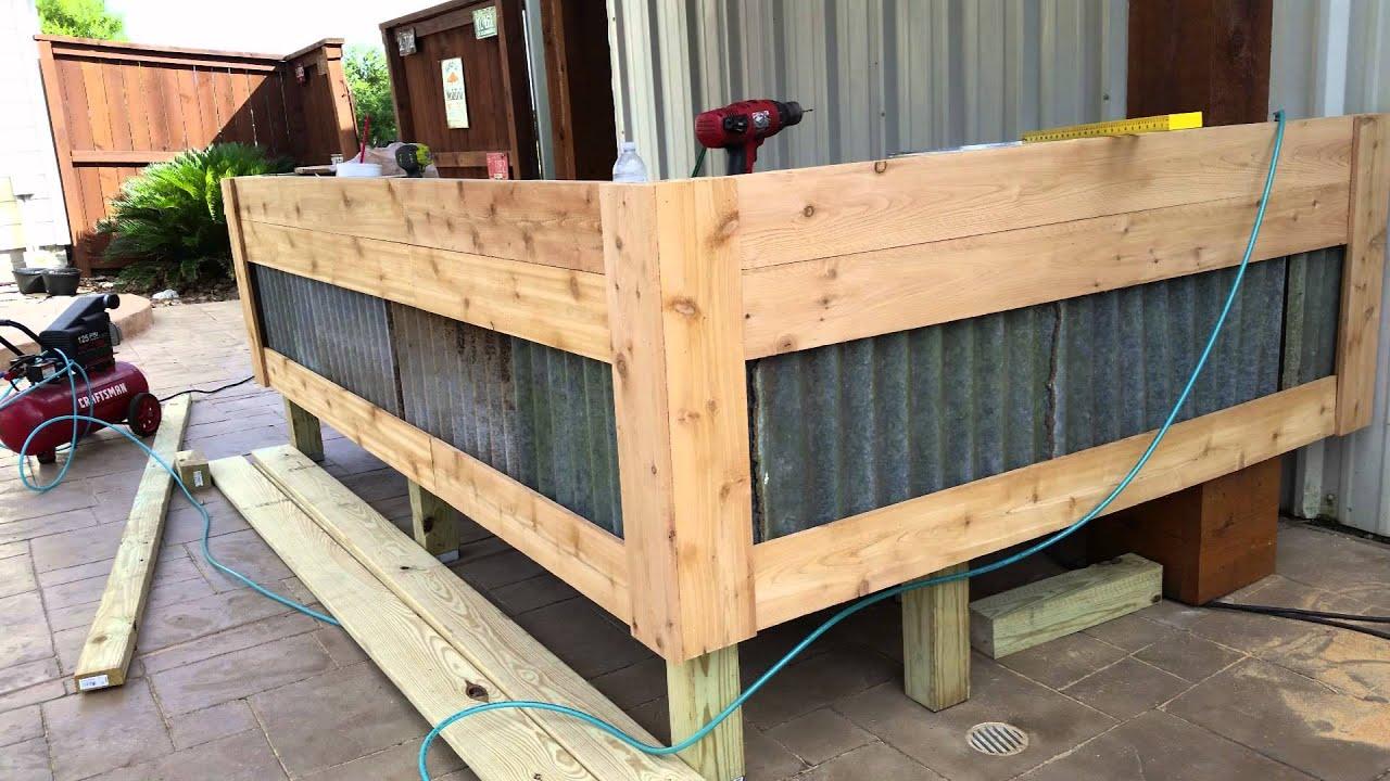 how to build an outdoor bar cheap