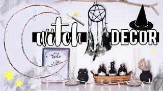 WITCH INSPIRED DECOR ✦ Halloween Decor 2017 | STYLOWEEN