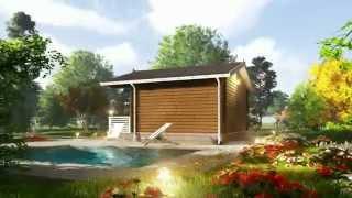 Дачные дома из профилированного бруса эконом класса (видео)