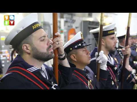 Acto de Jura de Bandera de personal civil a bordo del LHD 'Juan Carlos I' en Algeciras
