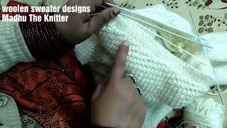 New sweater design for gents in hindi Part3 || Madhu The Knitter ( v gala kaise bnaye )