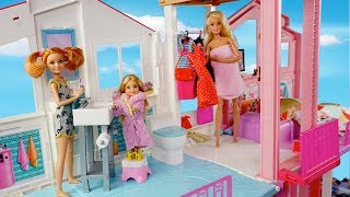 Barbie Chelsea No School Morning Routine - Going to The Park & Selling Kool Aid!