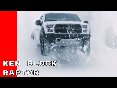 Ken Block Driving 2017 Ford F150 Raptor On Ice and Snow