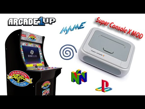 Super Console X Arcade1up MOD .. How good is it ? from Wicked Gamer & Collector