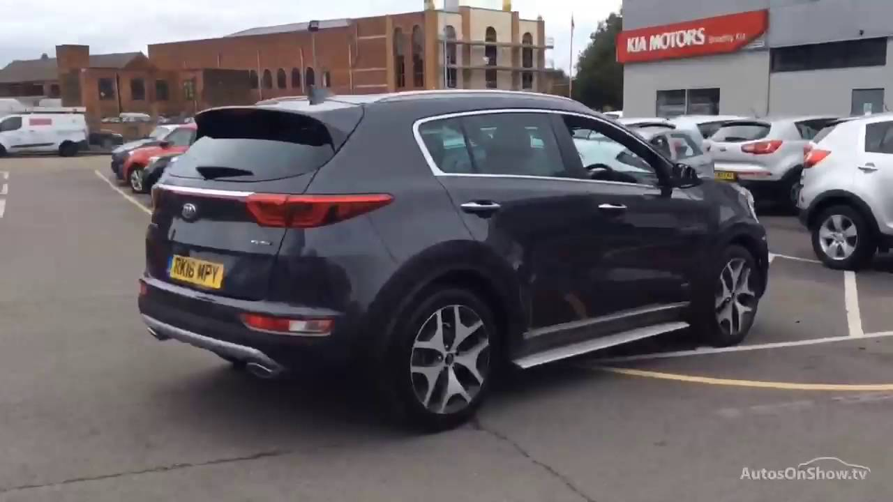 kia sportage crdi gt line aluminium silver 2016 youtube. Black Bedroom Furniture Sets. Home Design Ideas