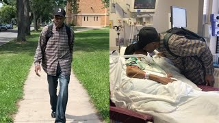 99-year-old walks six miles a day to visit his wife in the hospital