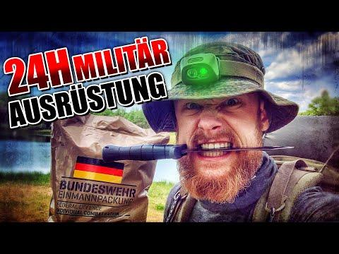 24H SURVIVAL - Überleben mit Militär Ausrüstung | Fritz Meinecke