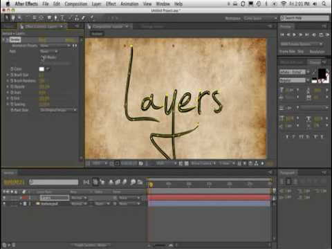 L'effet Trait d'After Effects