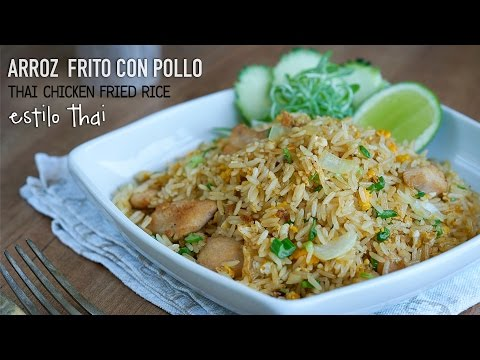 Arroz frito con pollo estilo Thai – Easy Thai Chicken Fried Rice Recipe l Kwan Homsai