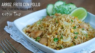 Leer la receta paso a paso: http://wp.me/p7j6SB-ZD Arroz frito con pollo estilo Thai - Easy Thai Chicken Fried Rice Recipe. (Receta para 2 personas l The recipe ...