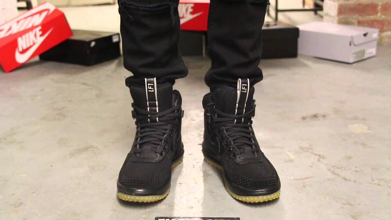 Nike Lunar Force 1 Sneakerboot - Anthracite - Black - On-feet video at  Exclucity - YouTube ec5e5c1049