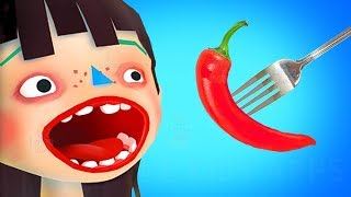 ГОТОВКА ЧЕЛЛЕНДЖ Toca Kitchen Fun Cooking Game Дети учатся готовить и есть еду   мультяшная игра