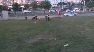 Минск, каменная горка, задержание наркомана, драка с милицией