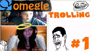Trolling on Omegle #1 - FAKE WEBCAM GIRL WITH SURPRISE!