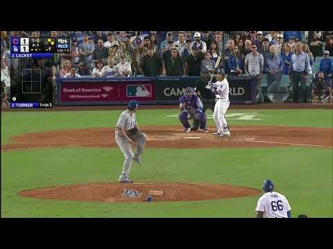 Justin Turner 3-Run Walk Off Homerun vs Cubs   Dodgers vs Cubs Game 2 NLCS