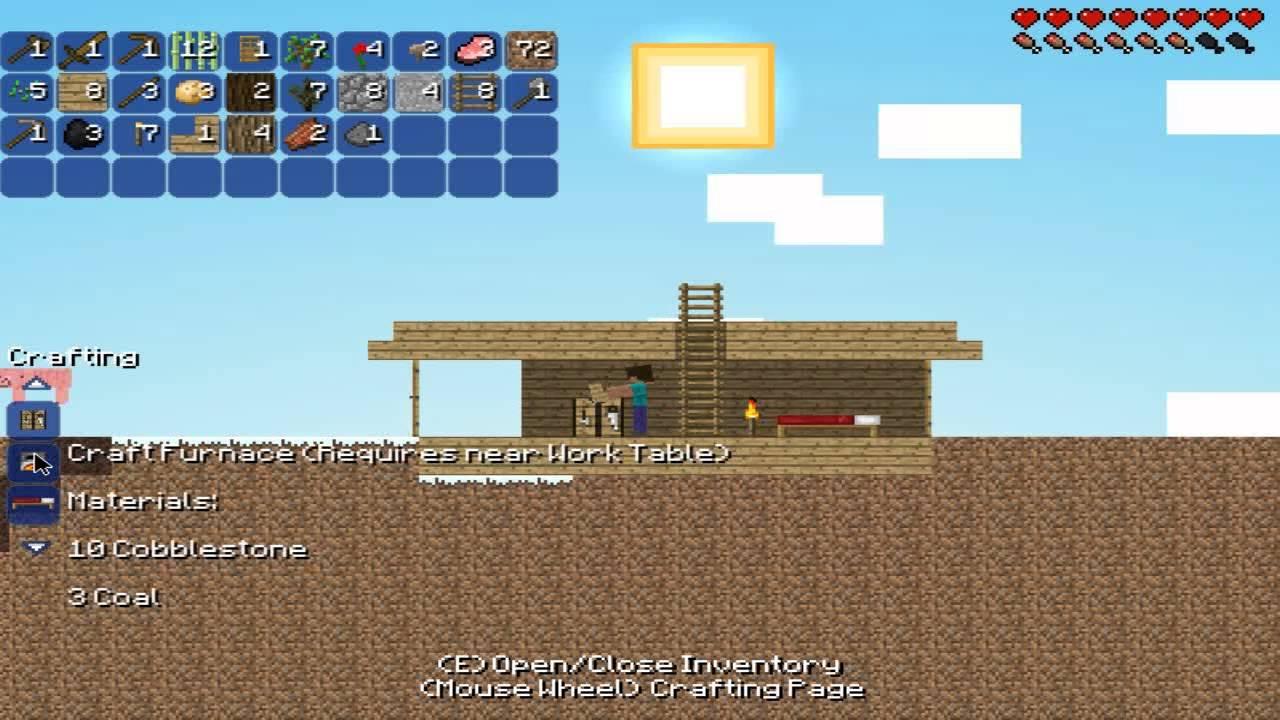 minecraft 2d spielen