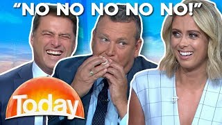 Tim Gilbert inhales sausage sizzle | TODAY Show Australia