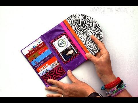 How to Make a Duct Tape Ladies Wallet | Sophie's World