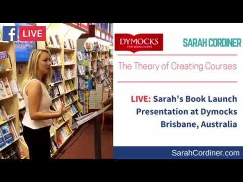 LIVE: Sarah's Book Launch Presentation at Dymocks Bookstore Brisbane