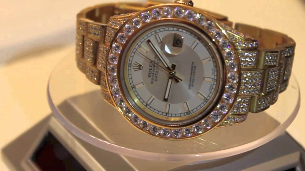Diamond rolex replica - Fully Iced Out Custom Lab Diamond Datejust Ii 41mm Full Clasp Iced Youtube