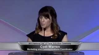 2013 Hall of Fame Induction Ceremony