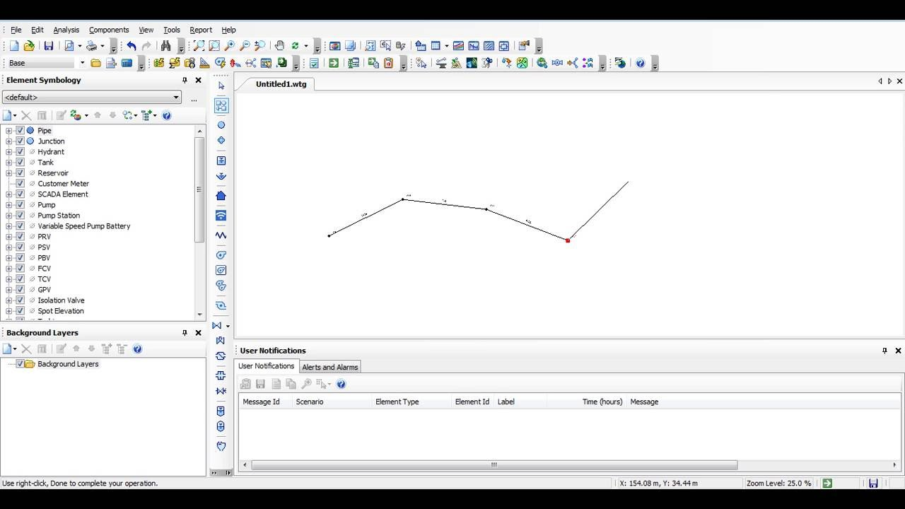 Drawing Lines Excel Vba : Bentley watergems hammer how to draw a pipe line