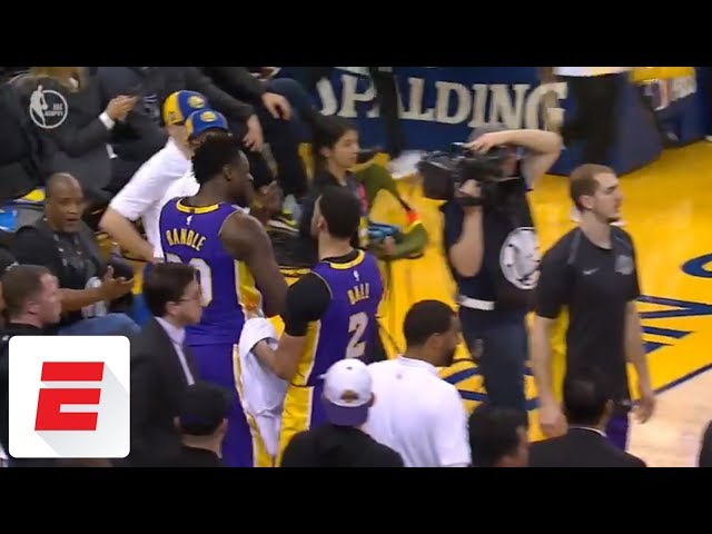 Lonzo Ball steps in as Julius Randle, Isaiah Thomas get into heated exchange | ESPN