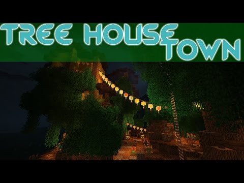 Tree House Town | Modded Creative Building | Build 1 +World Download