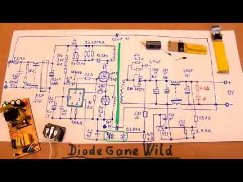 12V 5A LED switching power supply with schematic YouTube - YouTube