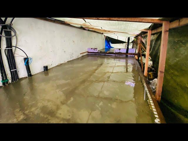 We have cast the concrete floor - VLog121