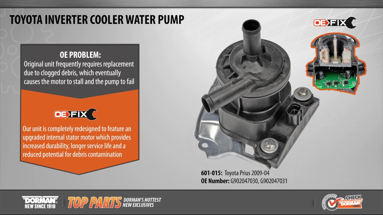 Highlighted Part: Drive Motor Inverter Cooler Water Pump for Select Toyota  Prius Models