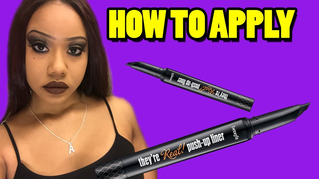 Benefit they're real push up liner: tutorial, demo + review! Youtube.