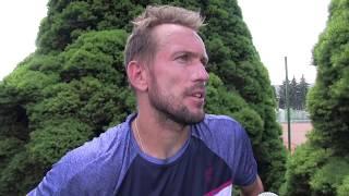 Jan Mertl po výhře ve 2. kole na turnaji Futures v Ústí n. O.
